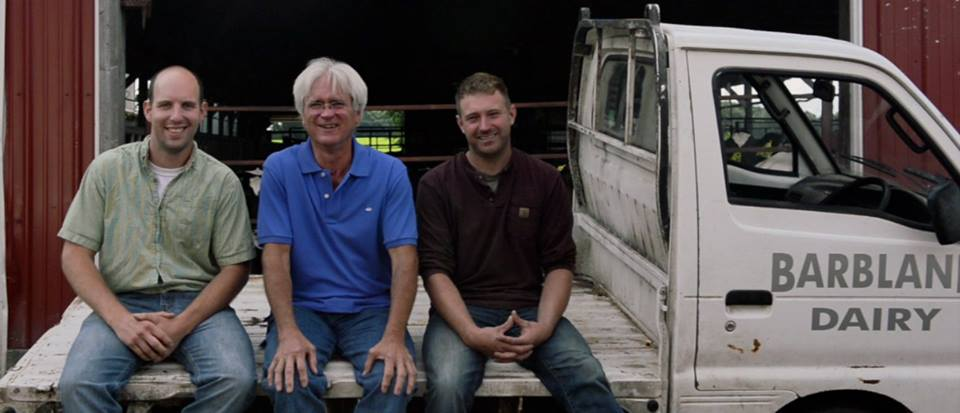 The owners of Barbland Dairy: Bret, Chip and Luke,